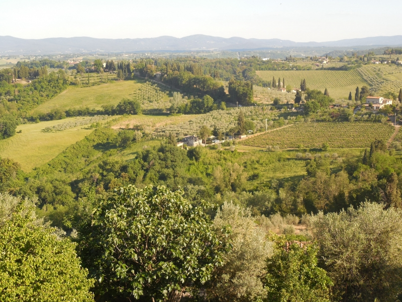 The Tuscan countryside in San Gimignano, Italy