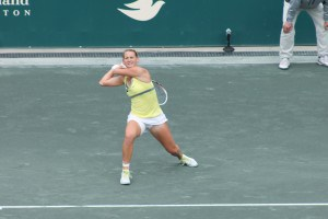 Mallory Burdette in loss to Serena Williams