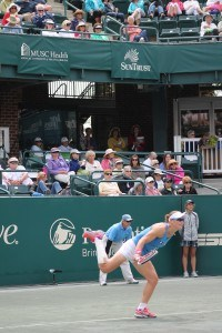 Stosur with forehand return