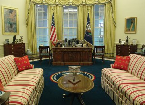 Replica of President Clinton's Oval Office.