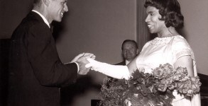 Marian Anderson with Robert Kennedy.