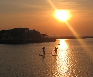 Paddleboarding at The Reeds at Shelter Haven