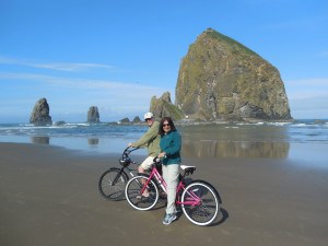 Biking Cannon Beach