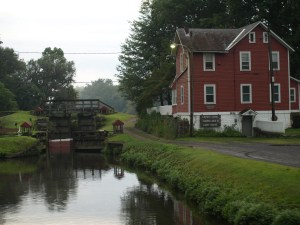 Guard lock #8 and lock tender's house.