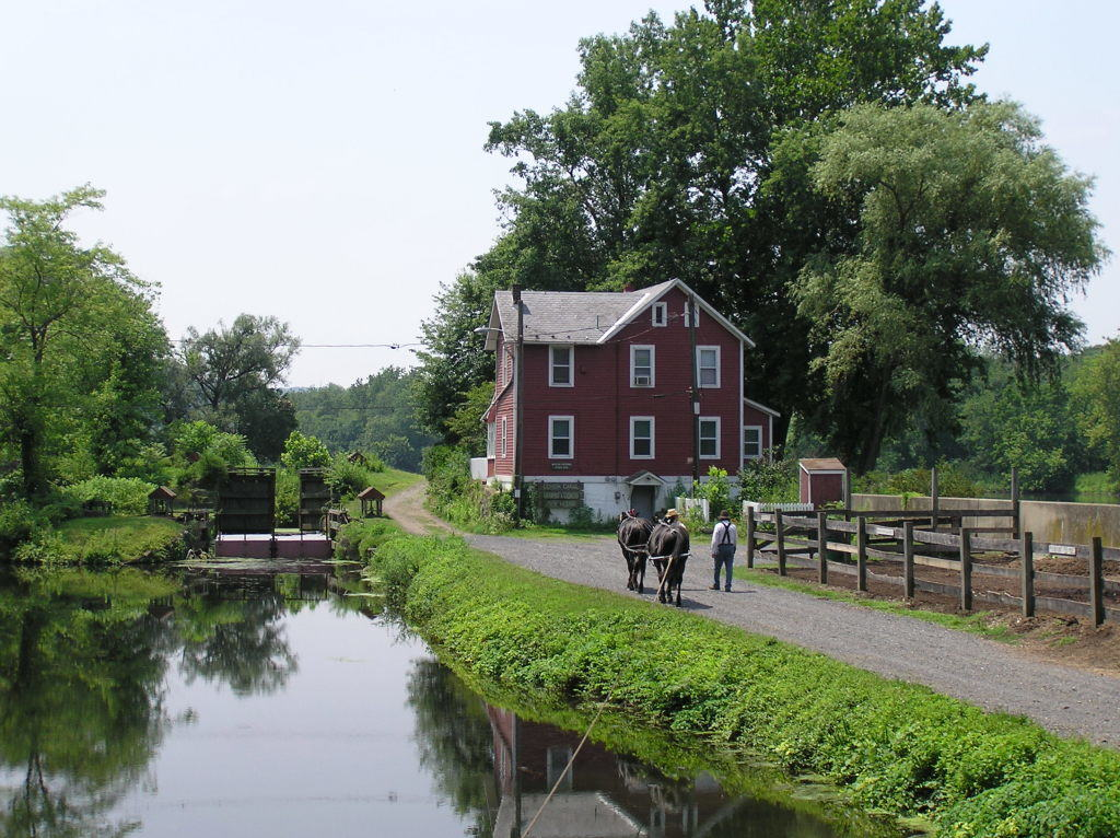 Lehigh Canal below guard lock #8.