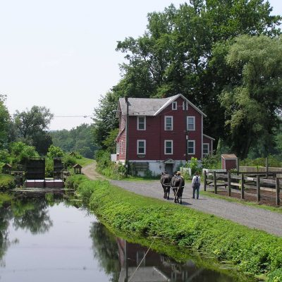 Lehigh Canal below guard lock #8.