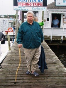 Chester Lynn, a local authority on Ocracoke's traditional foodways and a fan of figs