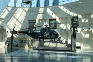 Aircraft in the entrance exhibit hall