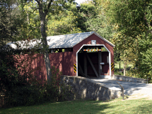 One of Lancaster's many covered bridges