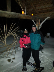 The Sweets and Snowshoe nighttime trek