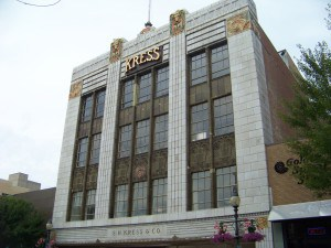 The architecturally significant S. H. Kress building on South Elm Street.