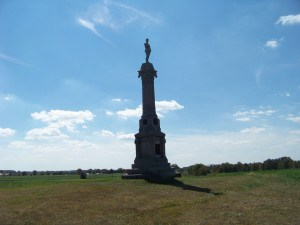 Michigan Cavalry monument at East Cavalry Field.