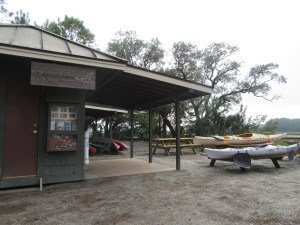 Kayak rentals and nature programs are available for different activities.