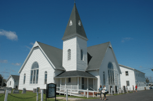 Swain's Methodist Church is a town focal point.