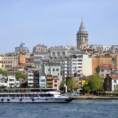 Cruising the Bosphorus Istandbul