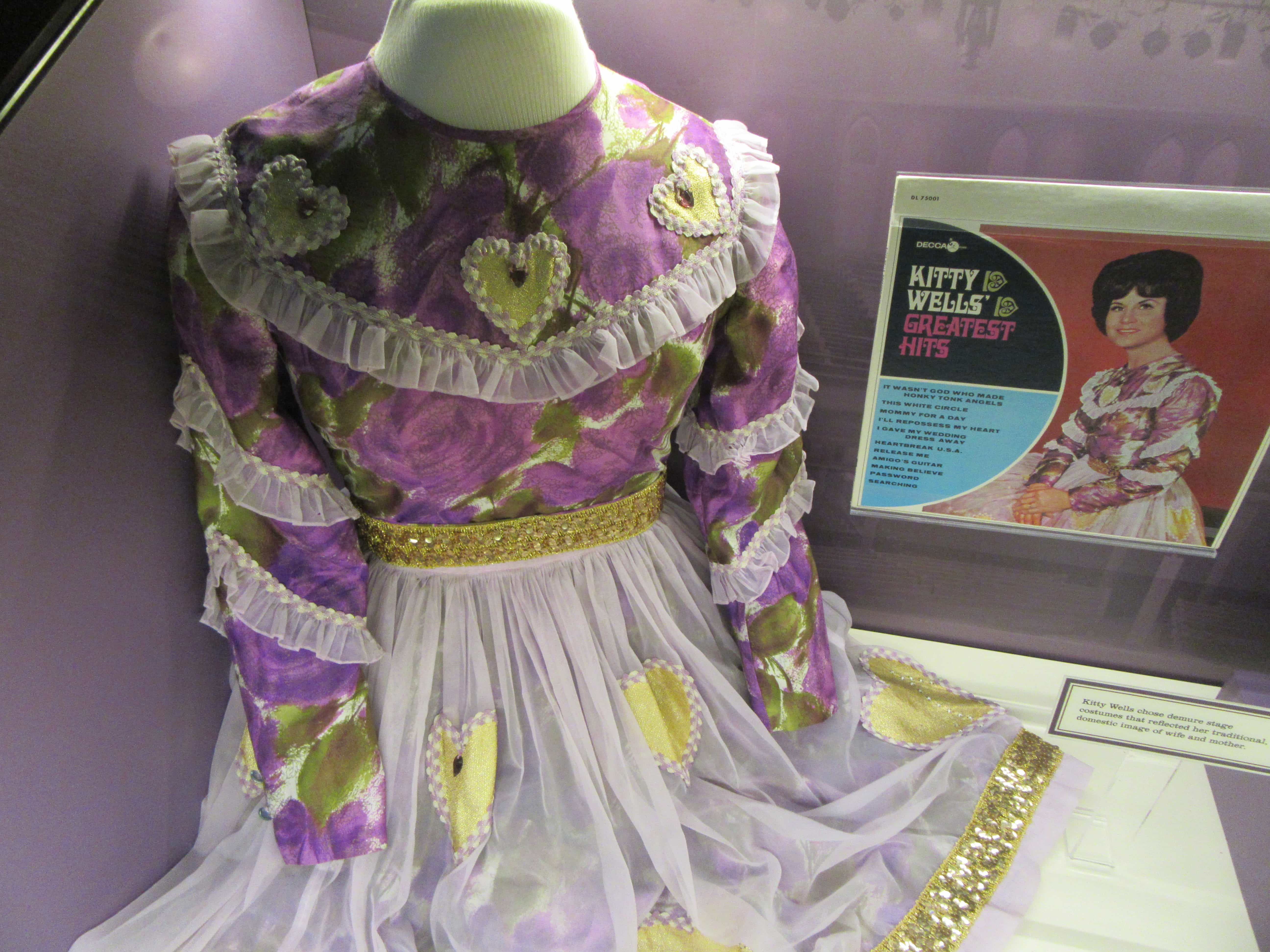 Kitty Wells costume worn while performing at the Grand Ole Opry Nashville.