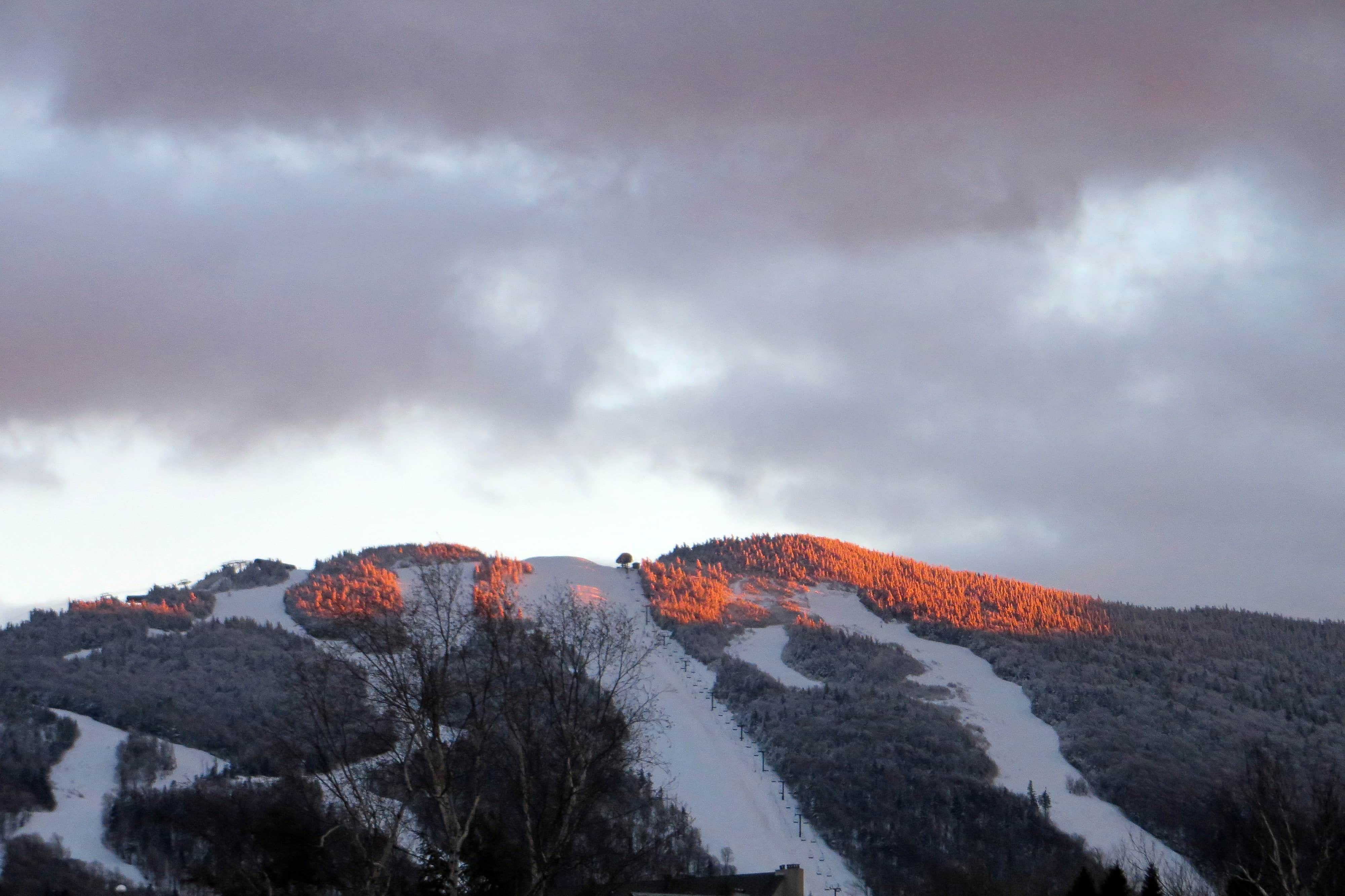 Sunset Alpenglow on Killington Peak
