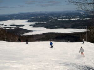 Skiing Overlooking Mount Sunapee Mountain Ridge