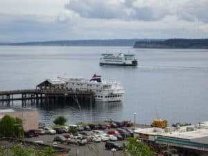 Port Townsend is a busy ferry terminal in the OLympic National Park area.