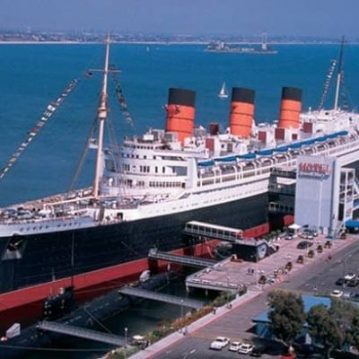 Queen Mary docked in Long Beach, CA