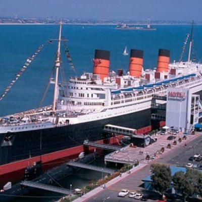 Queen Mary docked in Long Beach, CA