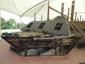 Bow of the USS Cairo.