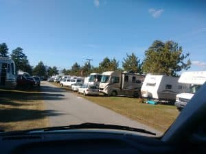 Very small part of two large RV parks adjacent to the Fryeburg Fairgrounds