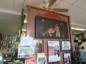 One of many exhibits at the Laurel and Hardy Museum.