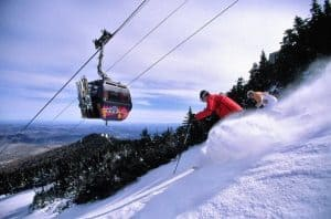 Killington: Riding up the mountain.