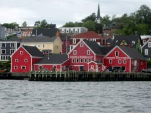 Lunenburg Harbour. Nova Scotia