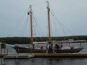 Schooner Mary E at Maine Maritime Museum, Bath MidCoast Maine