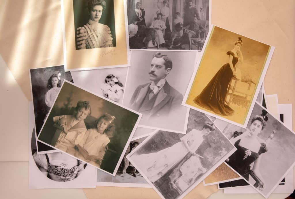 Historic famil photos at the Biltmore