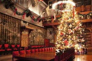 Christmas tree in the banquet hall at Biltmore.