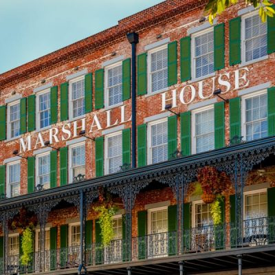 Savannah's #1 Hotel . The Marshall House ideally located on Broughton St