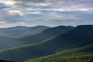 Westerly view of the Catskill Mountains from Overlook Mountain in New York State
