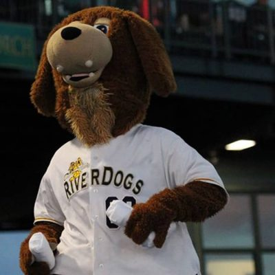Charley T. RiverDog provides laughs a lot of fun at the game.