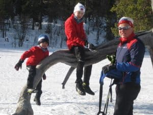 Norwegian Families enjoy the outdoors year round.