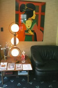 Mid Century Art, Lamps and other furnishings abound at the Koolwink Motel in Romney, WVA.