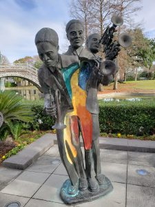 """New Orleans - """"Buddy"""" Bolden statue on the Jazz Walking Tour"""