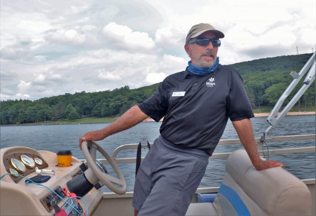 Pontoon Boat Skipper Bob Salvucci