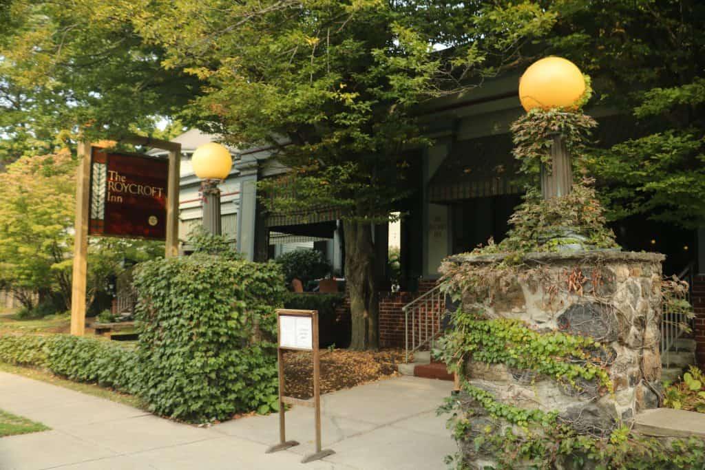 Entrance to the Roycroft Inn