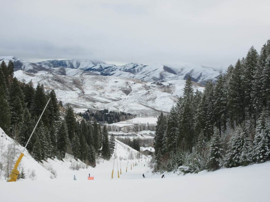Snow slopes at Sun Valley.