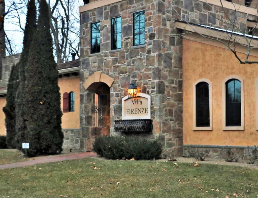 Outside the Villa Firenze at Gervasi Resort and Vineyard.