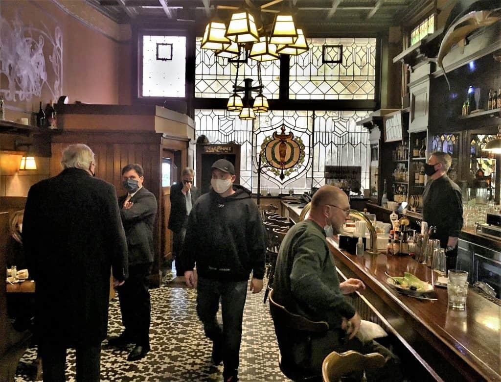 Inside Benders Tavern.
