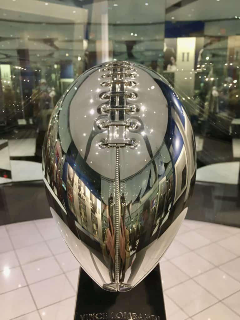 Lombardi Trophy on Display.