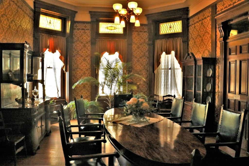 Wardens Dining Room at Ohio State Reformatory.