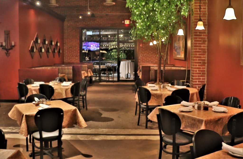 Inside Olivero's Restaurant.