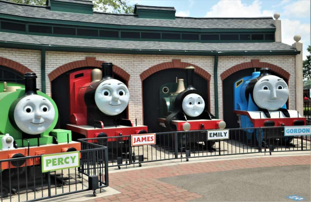 Engines in Thomas Town.
