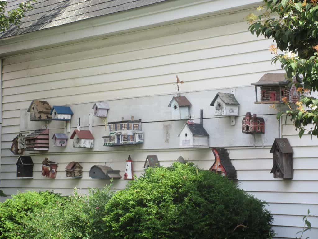 Provincetown cottage with birdhouses
